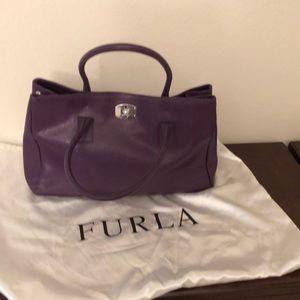 Furla leather satchel.